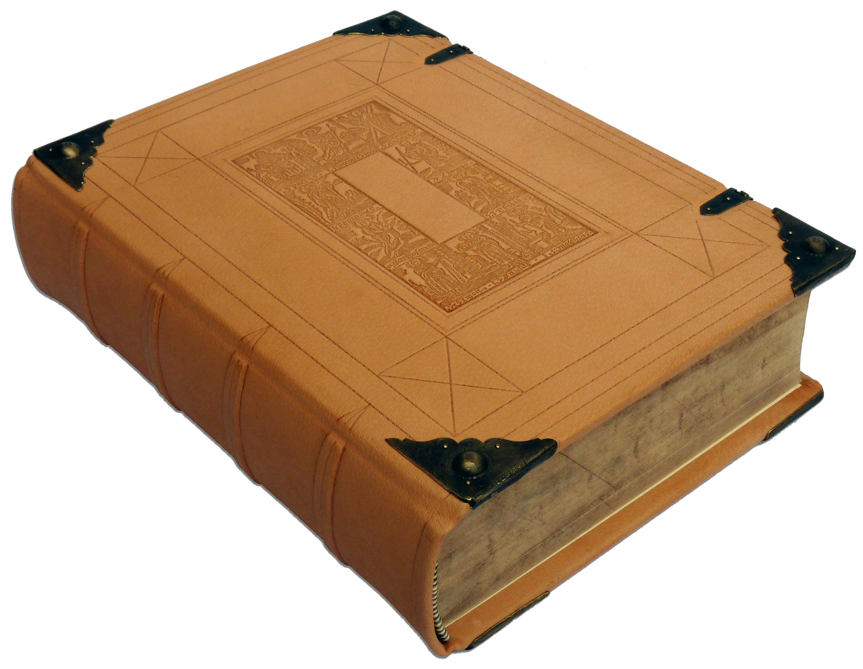 Restauration Bibel in Schweinsleder