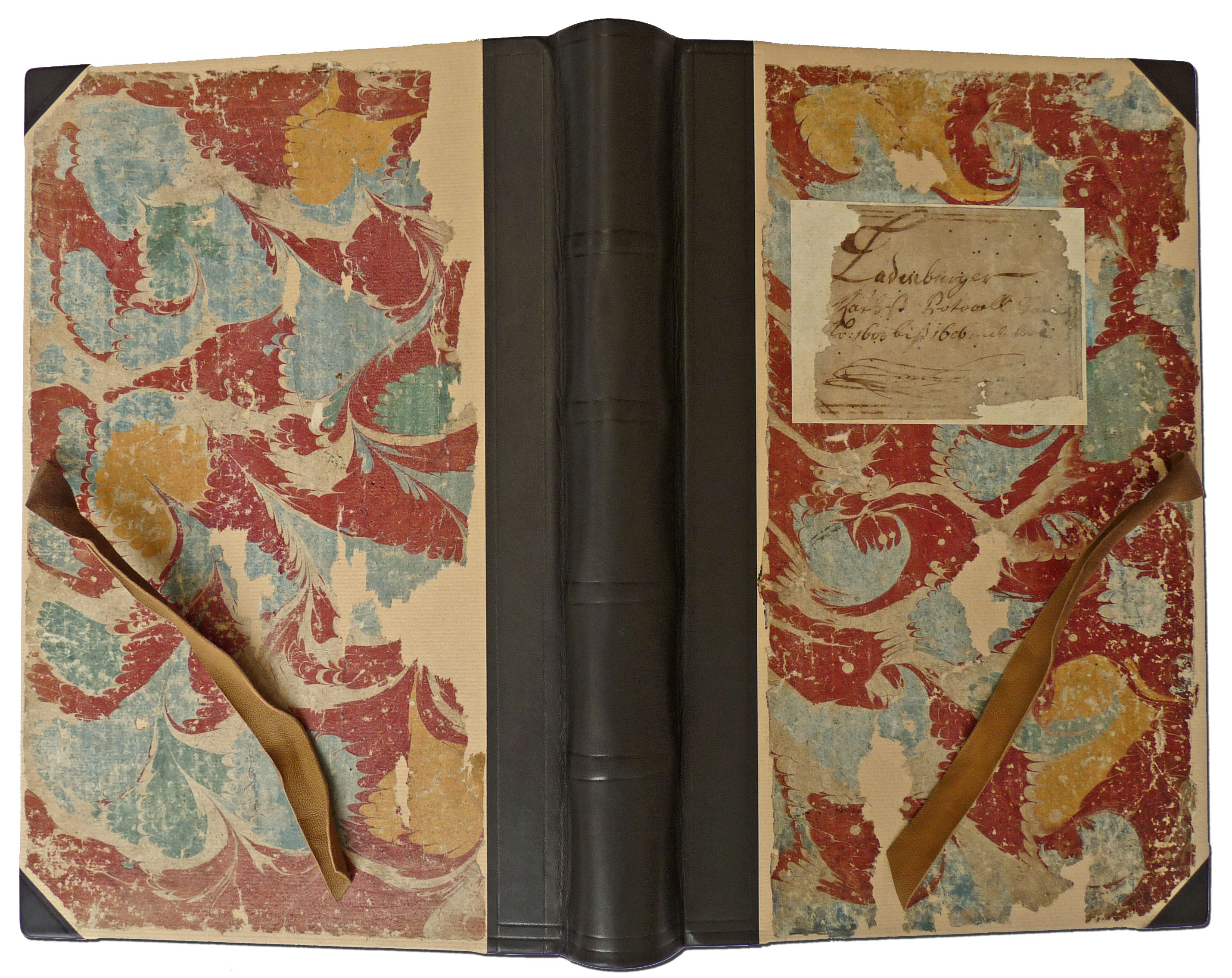 Restauration Halblederbuch