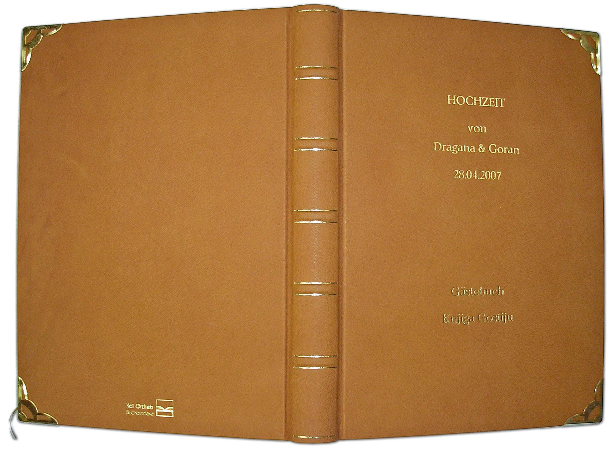 Hochzeitsbuch in Leder