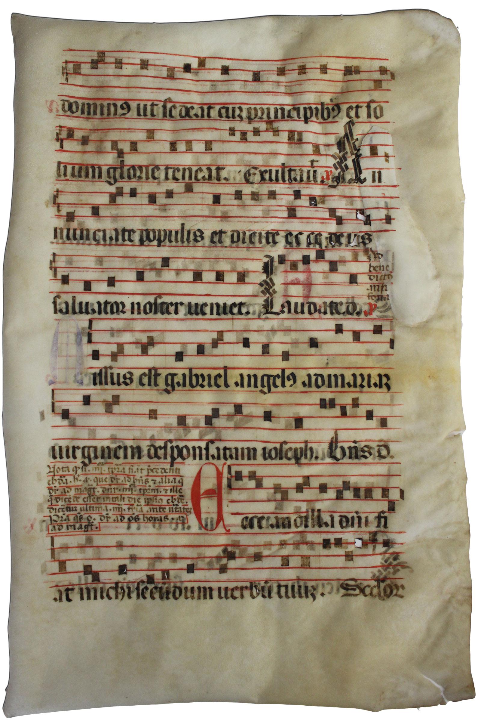 Restaurierung von Pergament