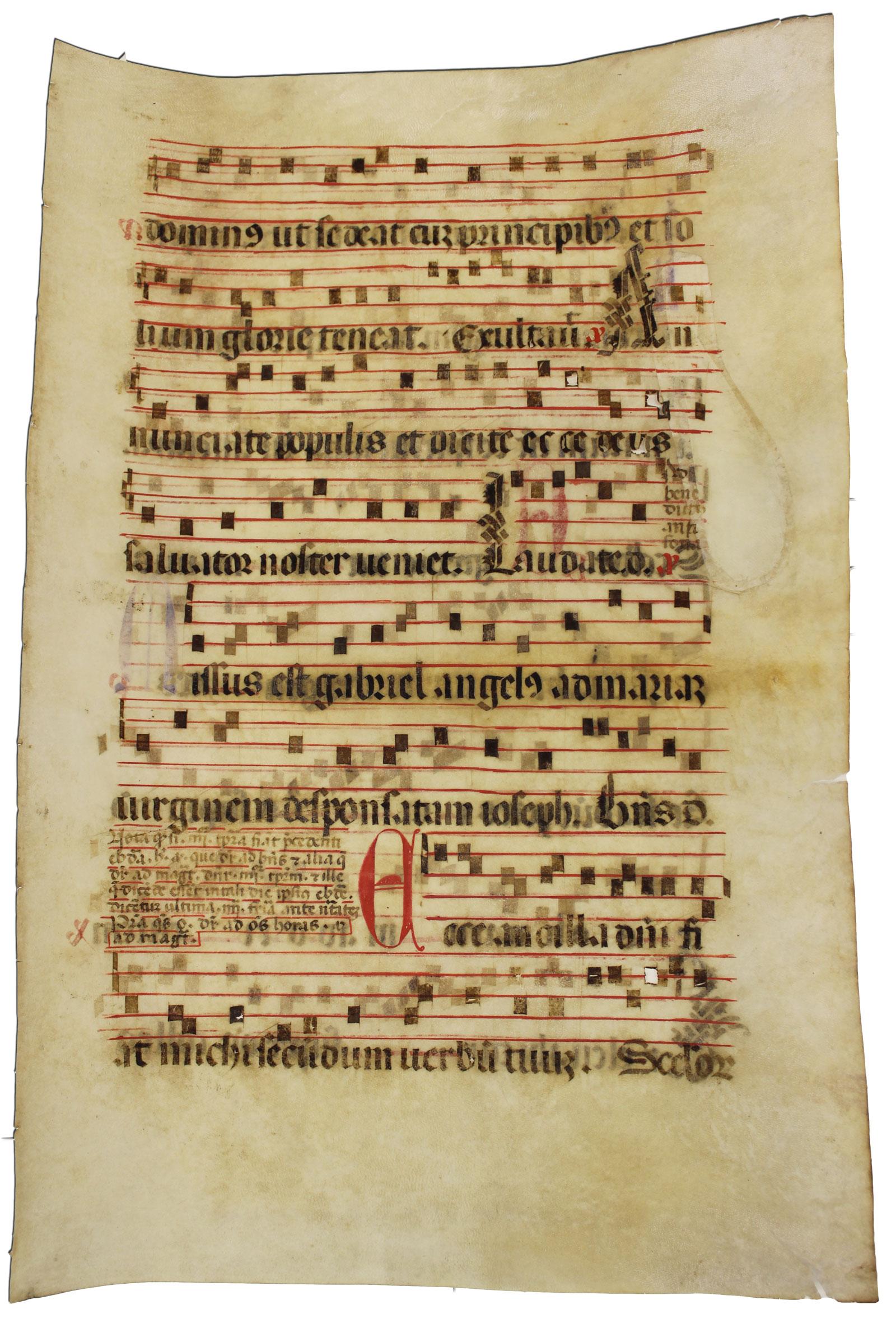 Restauration von Pergament