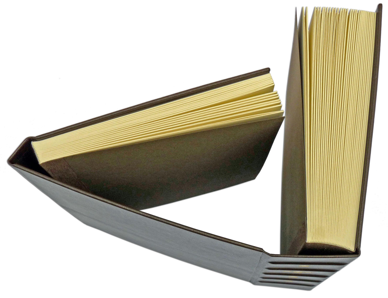 Doppelbuch in Leder