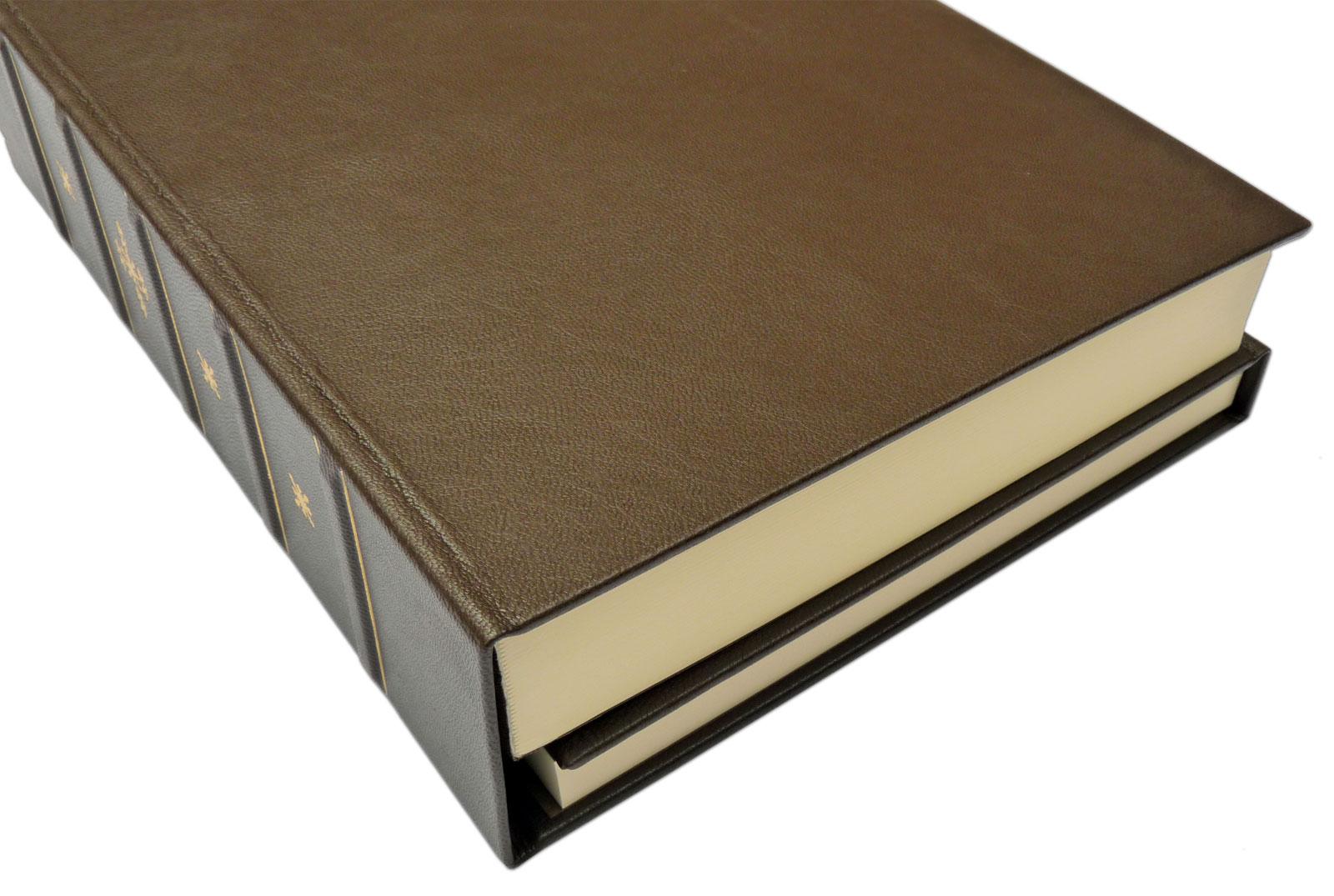 Zwillingsbuch in Leder