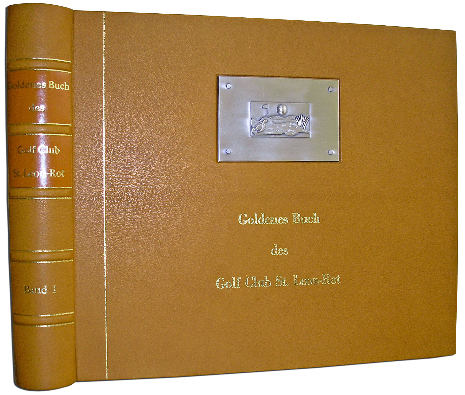 Goldenes Buch mit Medaillon