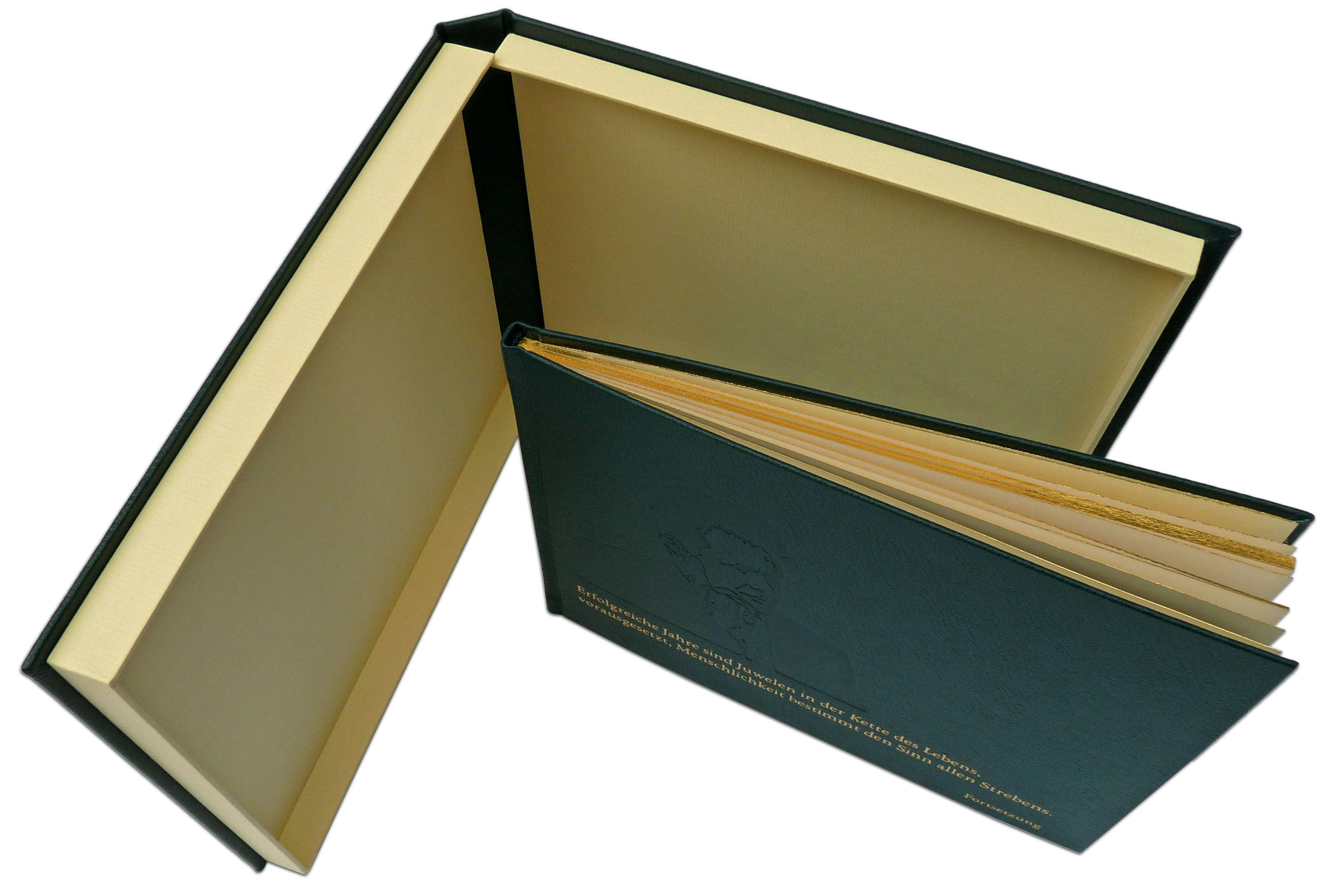 Buchkassette in Leder