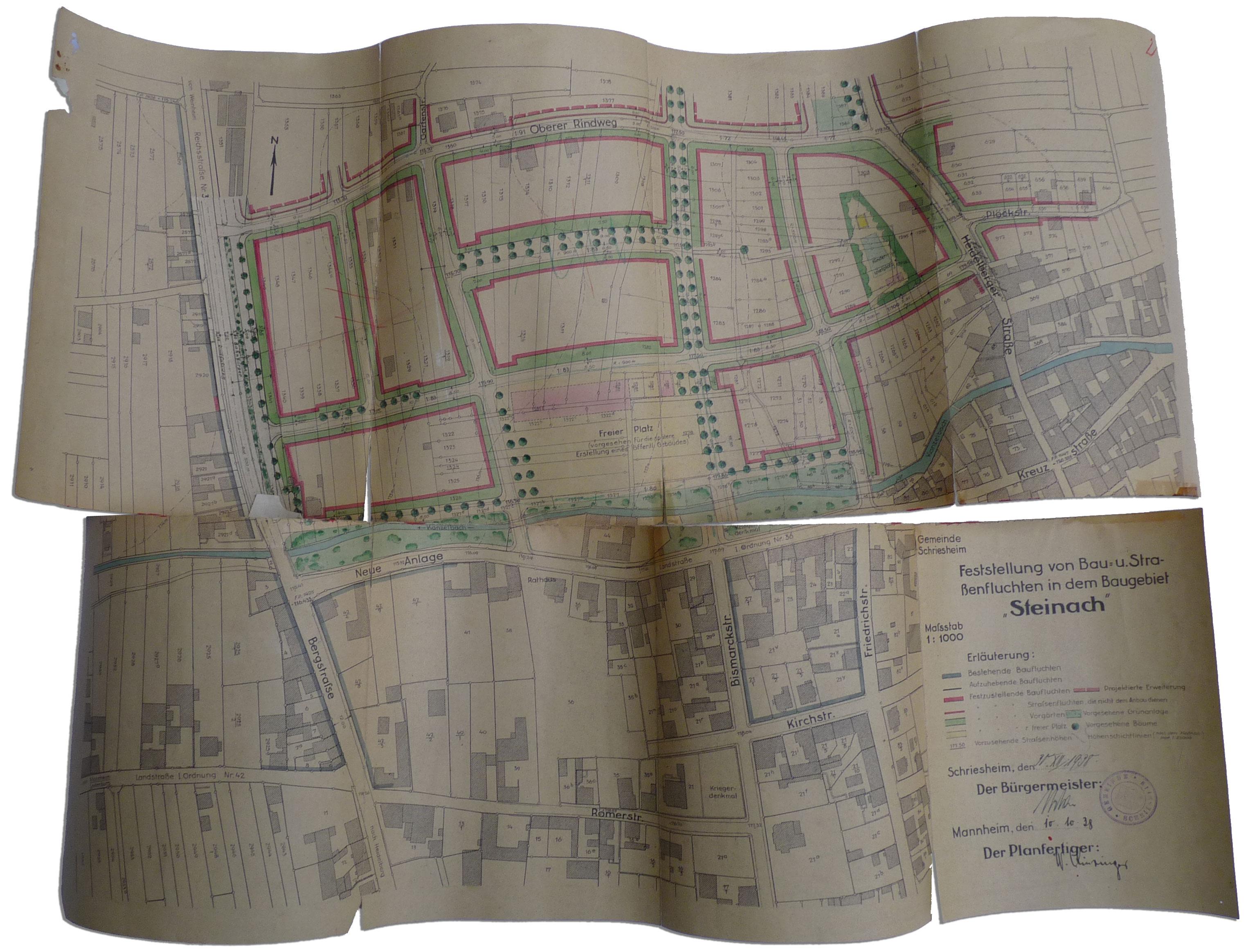 Restaurierung von Karten