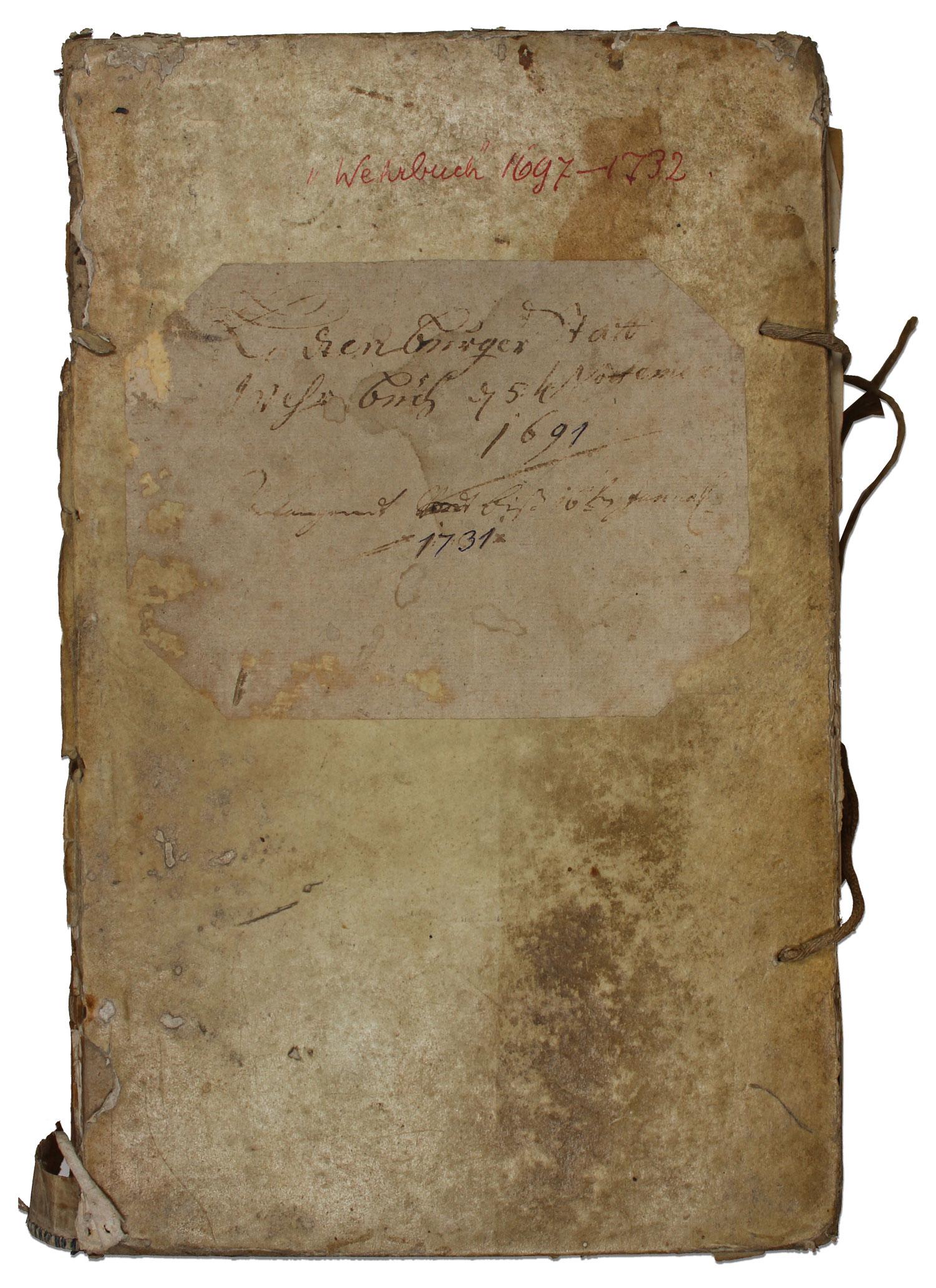 Restaurierung Pergamentband